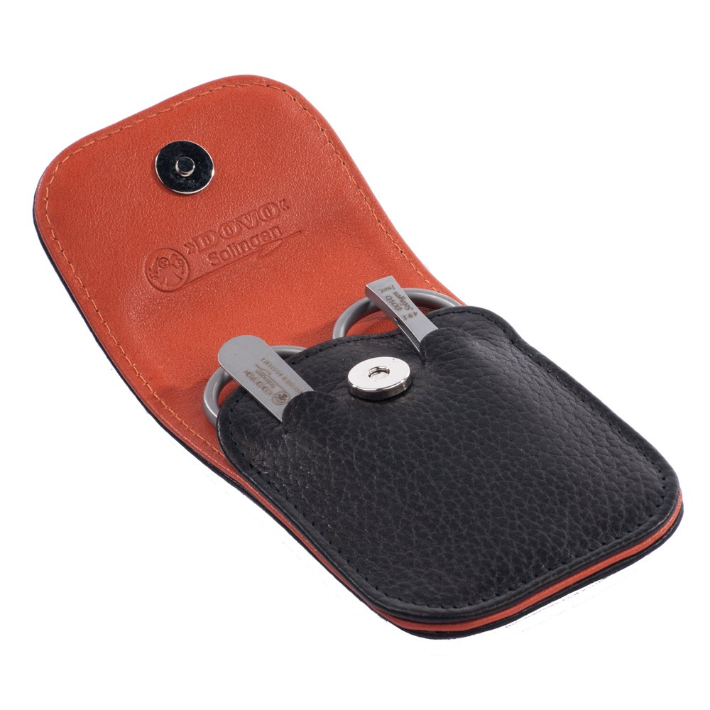 Dovo 3 Piece Buffalo Leather Travel Manicure Set