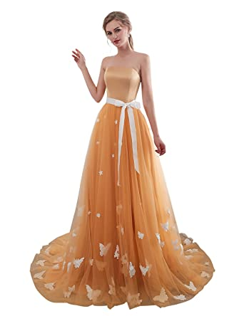 Tan Lace Prom Dresses 2018