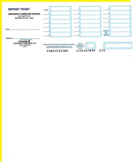 photo relating to Free Printable Deposit Slips Template for Quickbooks named Laser Deposit Slips Appropriate with QuickBooks 1 or 2 Pieces (100, 2 Section - White and Canary)