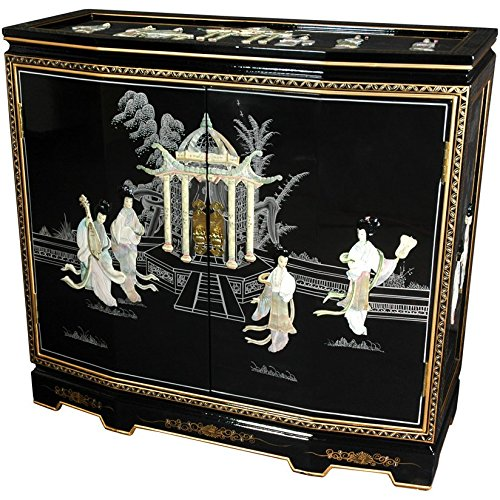 Oriental Furniture 32'' Slant Front Cabinet - Ladies Design by ORIENTAL Furniture
