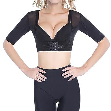 fe9e4272a8126 Shymay Women s Shapewear Tops Wear Your Own Bra Short Sleeve Slim Crop Top  Shaper