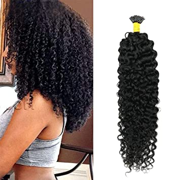 Bonded extensions for curly hair