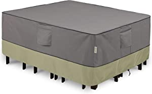 KylinLucky Patio Furniture Covers Waterproof for Table and Chairs Set, Outdoor Table Cover Rectangular - Fits up to 110 x 84 x 28 inches (L x W x H)