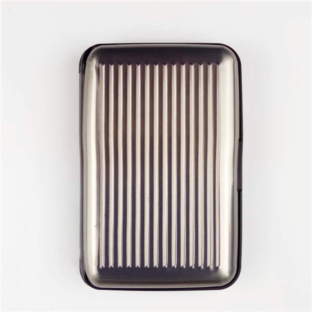 RWVWK 1 Unid Portatarjetas de Aluminio de Banco Bloqueo Estuche r/ígido Billetera Tarjeta de cr/édito s/ólida Anti-RFID Scanning Protect Card Holder