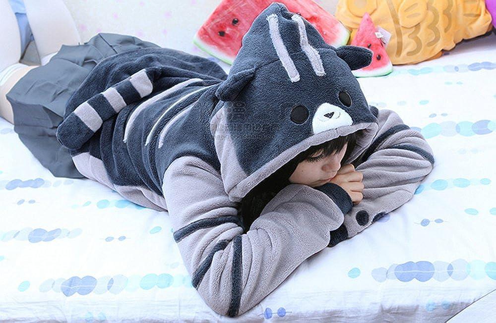 FANERR Girls Cat Hoodie Sweatshirt Pullover Fleece Hooded Grey