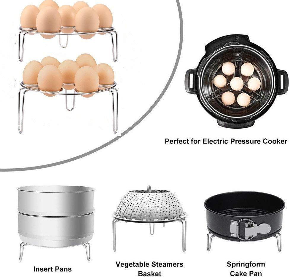 Instant Pot Accessories TraderPlus 2 Pack Stackable Egg Steamer Rack Trivet for Pressure Cooker