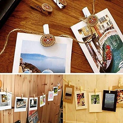 Liroyal Corde de chanvre color/ée /écologique faite main corde de chanvre bricolage Photo mur utilis/é artisanat couleur corde de chanvre 50 m/ètres