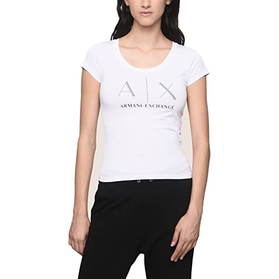 Armani 8nyt83, T-Shirt Femme, (Navy 1510), Taille Unique (Taille Fabricant: X-Small)