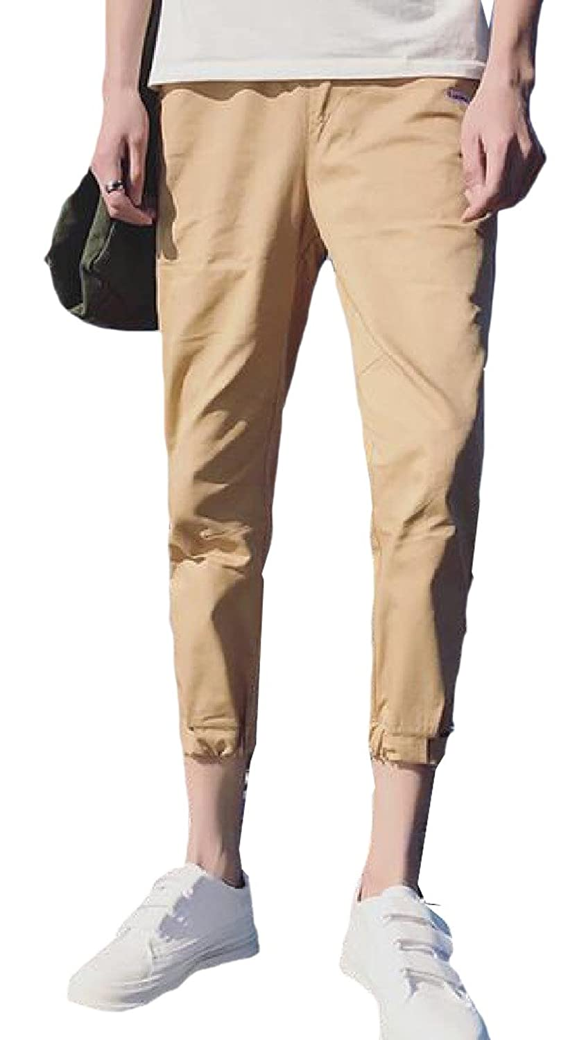 Honey GD Mens Fashion Linen Summer Quick?Dry Loose Casual pant