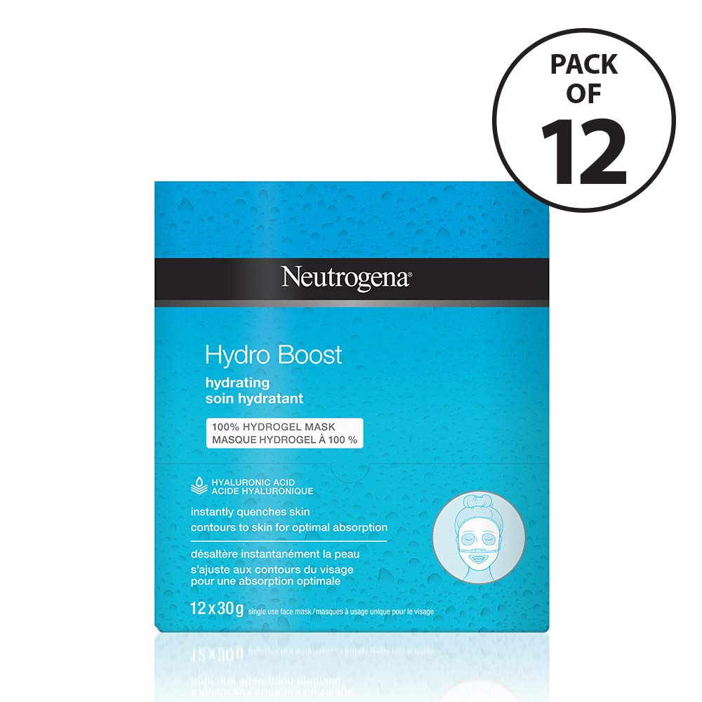 Neutrogena Cleansers Neutrogena Hydro Boost Face Mask With Hyaluronic Acid, 12 Masks, 40g Johnson & Johnson