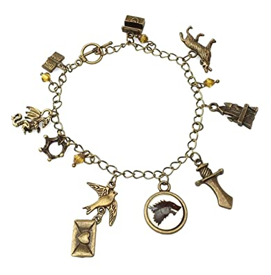 Beaux Bijoux Game of Thrones Charm Bracelet - GOT Jewellery - Stark, Lannister, Targaryen Charms
