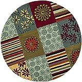 Safavieh Soho Collection SOH817A Handmade Multicolored Premium Wool Round Area Rug (6′ Diameter) Review