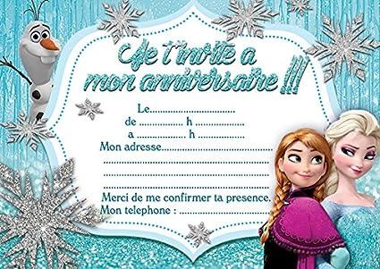 10 Tarjetas Invitación Cumpleaños Frozen Frozen In French