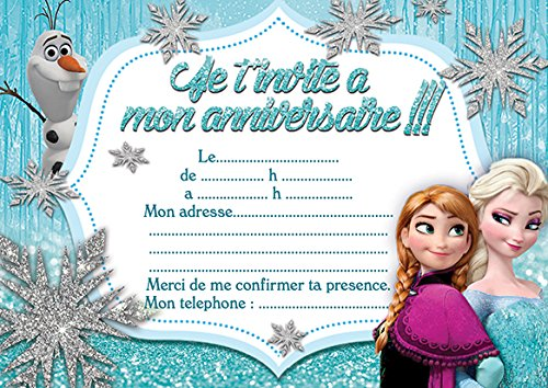 10 cartes invitation anniversaire la reine des neiges frozen in 10 cartes invitation anniversaire la reine des neiges frozen in french amazon fournitures de bureau stopboris Gallery
