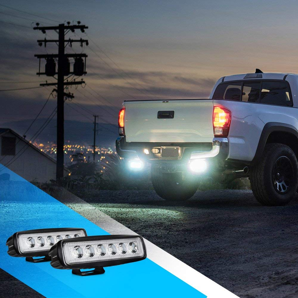 Nilight Led Light Bar 4PCS 18w Spot Driving Fog Light Off Road Lights Boat Lights driving lights Led Work Light SUV Jeep Lamp,2 years Warranty