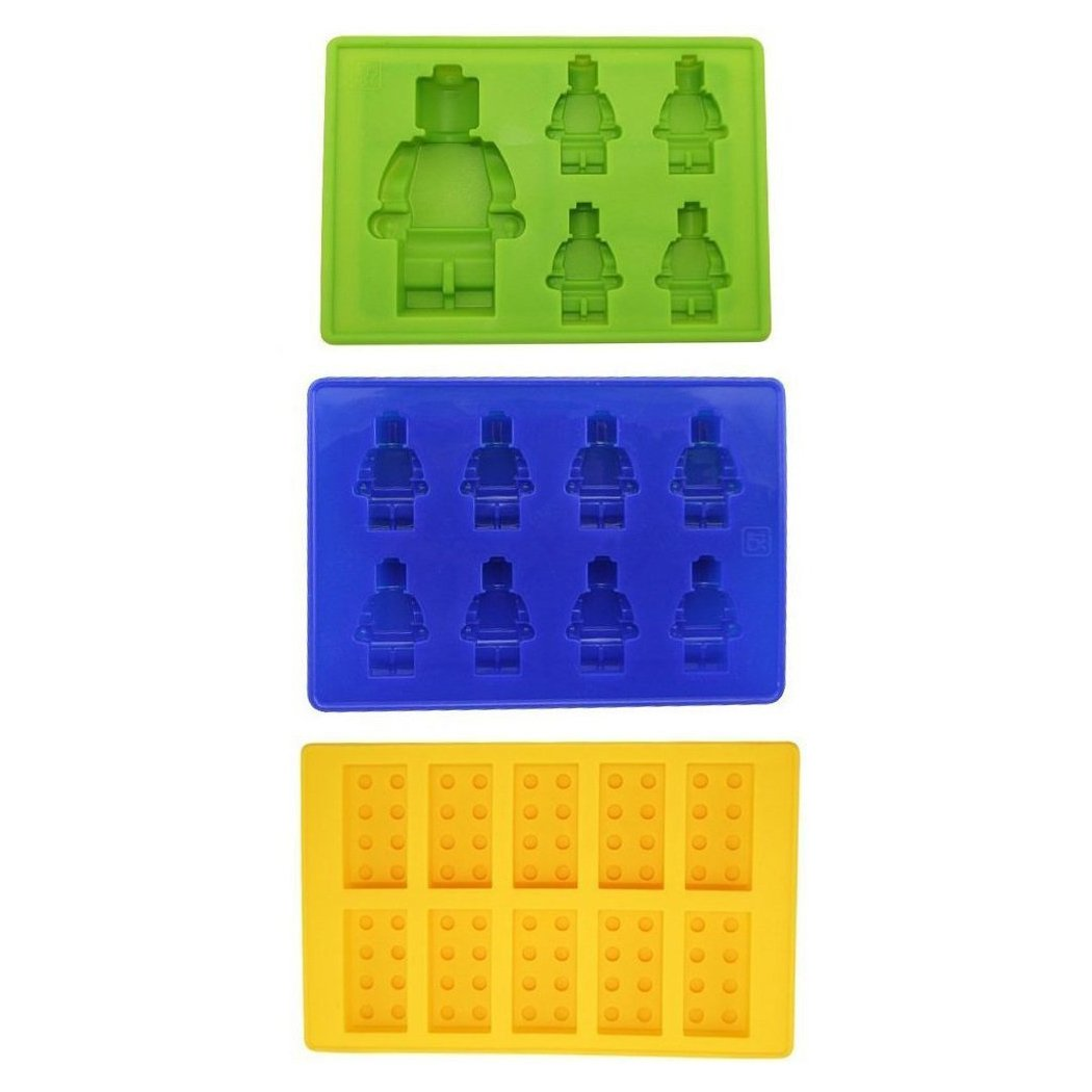 Xubox Silicone Ice Cube Trays, 3 Pack Easy Release Ice Cube Tray Set with 23 Ice Cubes Molds, Perfect for Whiskey Cocktail Soft Drinks, Reusable and BPA Free - Add Fun to Party Holiday for Lego Lovers XUBOX-HOME-IC-0240050