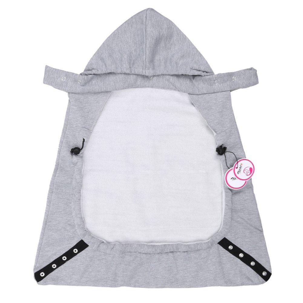 couverture manteau bébé Zicac Manteau Capuchon Couverture de Porte Bébé Souple et Chaude  couverture manteau bébé