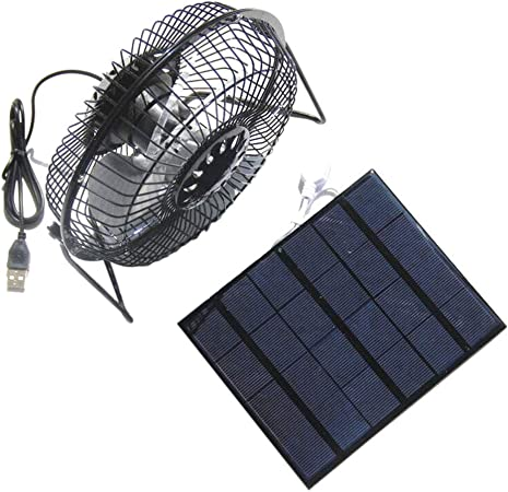 Soulitem- Ventilador Solar DE 3,5 W Mini USB con Ventilador ...