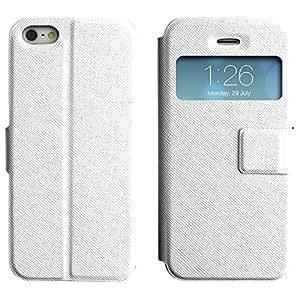 LEOCASE ninguna imagen Funda Carcasa Cuero Tapa Case Para Apple iPhone 5 / 5S No.1004173