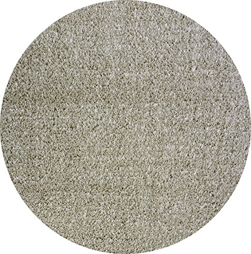 Momeni Rugs CSHAGCS-10OAT800R Comfort Shag Collection, High Pile Area Rug, 8' Round, Oatmeal Brown