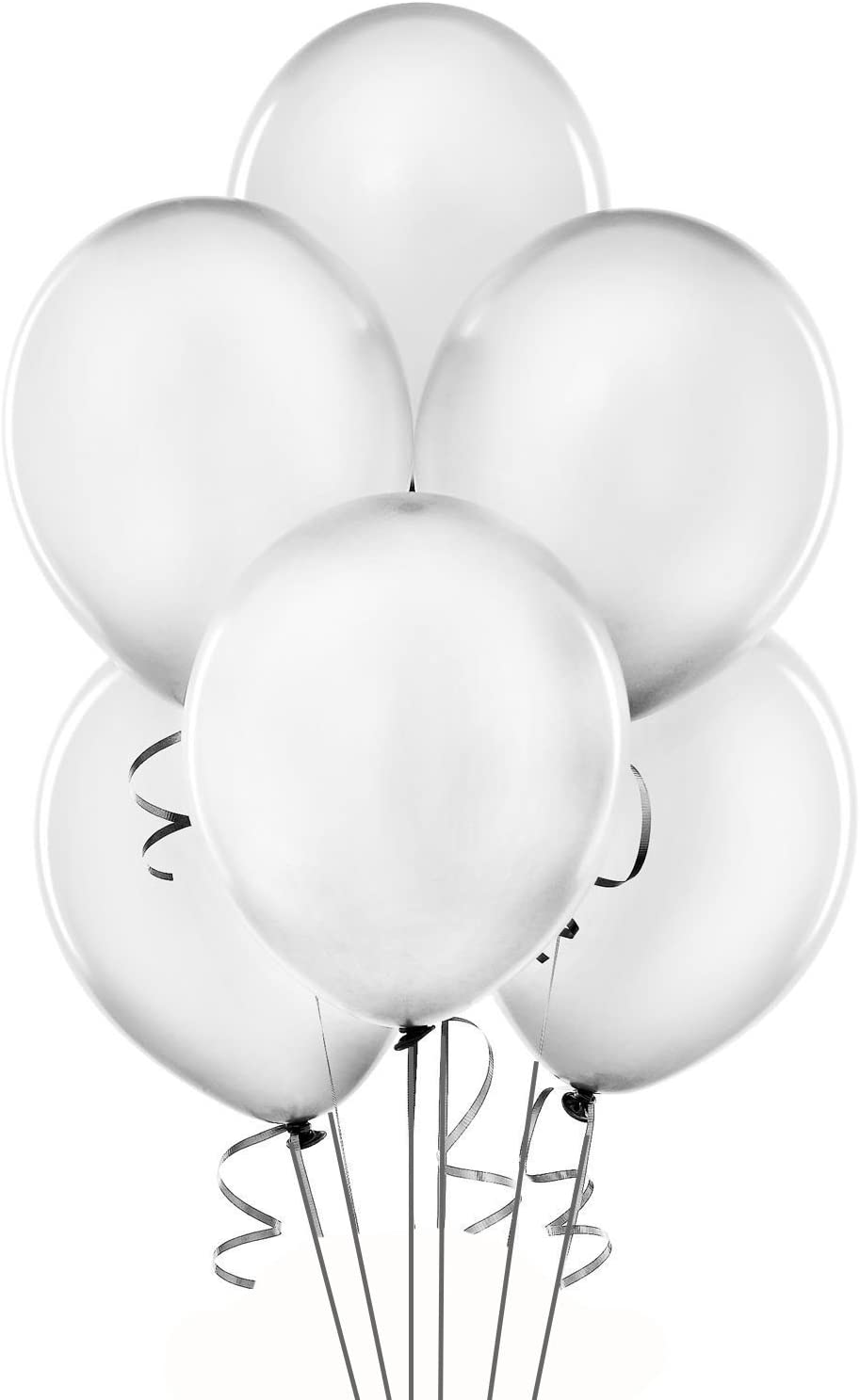 """Qualatex 11"""" Round Balloons, Silver - Pack of 100"""