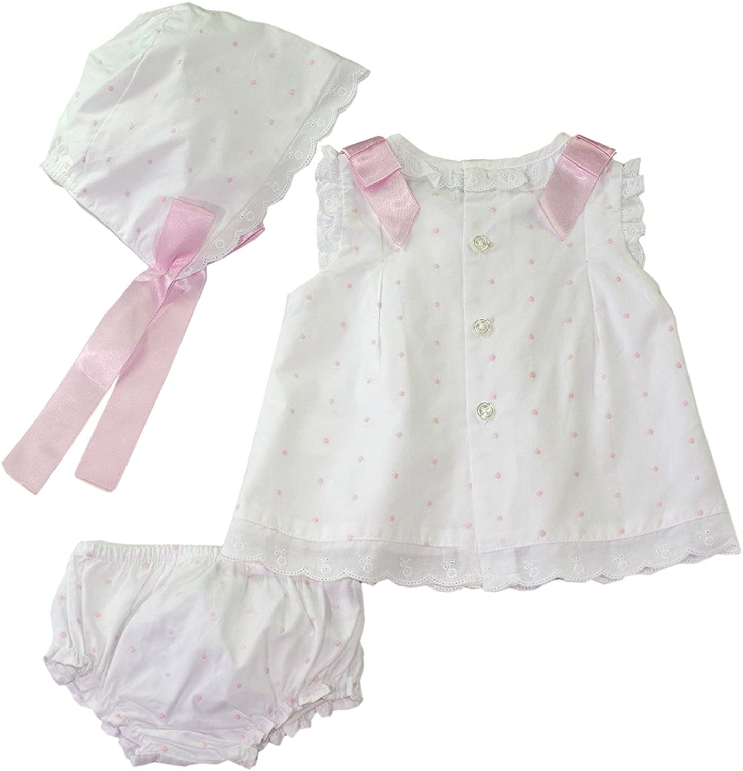 Boys Christening Outfit Dot Embroidery Short Set for Baptism
