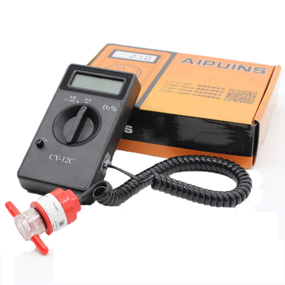 XSMP Handheld Portable O2 Oxygen Concentration Content Tester High Accuracy Meter Detector CY-12C Gas Analyzer: Amazon.com: Industrial & Scientific
