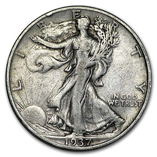 1937 S Walking Liberty Half Dollar VG/VF Half Dollar Very Good