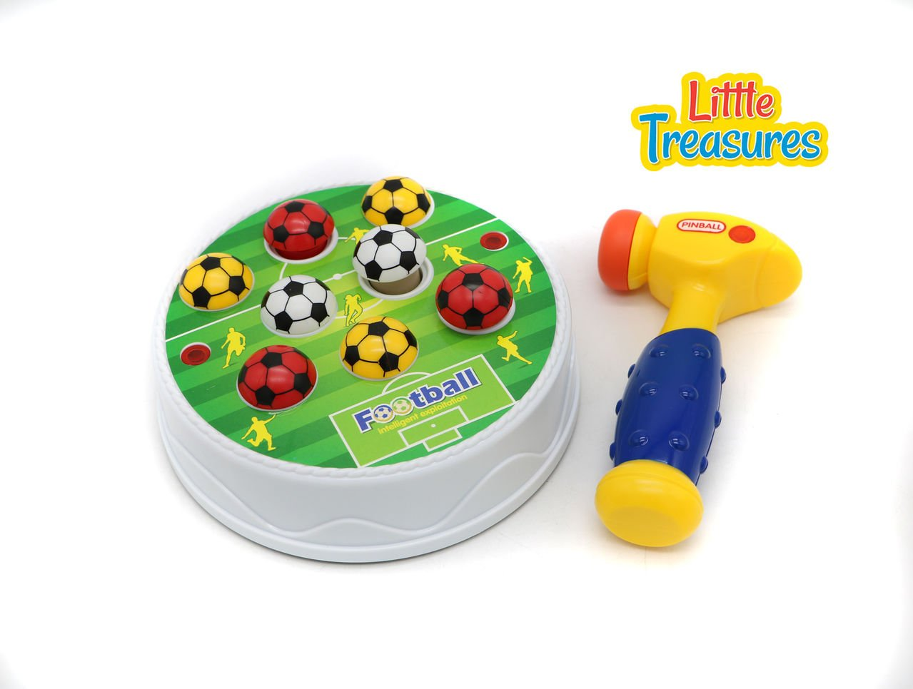 Little Treasures World of Soccer Pop up Whack Style Game Play with a Toy Pinball Hammer