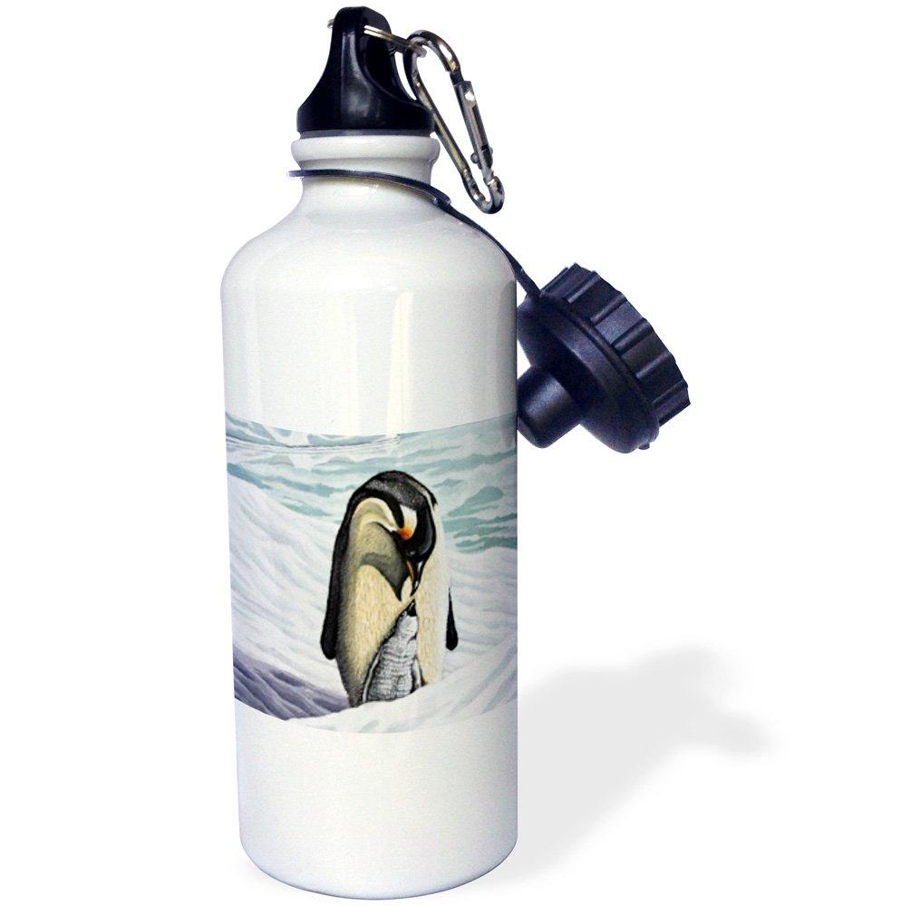 White 21 oz 3dRose wb/_3216/_1 RAINFOREST MARGAY Sports Water Bottle