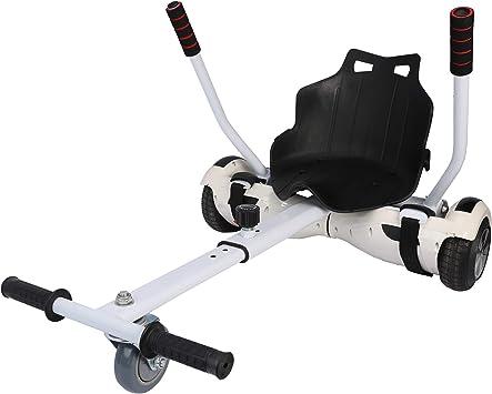 Sfeomi Hoverkart Silla para Hoverboard Electrico Hover Kart Ajustable para Patinete Eléctrico Asiento Kart Adaptarse a 6.5 8 10 Pulgadas Hoverboard Go Kart con Asiento para Niños y Adulto (Blanco): Amazon.es: Deportes