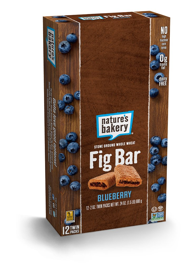 Nature's Bakery Whole Wheat Fig Bar, Vegan + Non-GMO, Blueberry (12 Count)