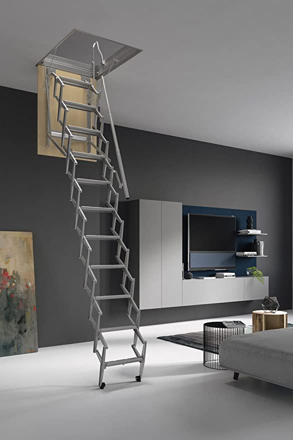 HASTA 150 Kg DE CARGA! Escalera plegable y escamoteable para hueco de 50x70 cm.: Amazon.es: Bricolaje y herramientas