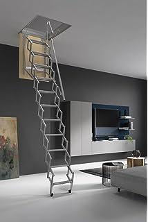 HASTA 150 Kg DE CARGA! Escalera plegable y escamoteable para hueco de 70x90 cm.: Amazon.es: Bricolaje y herramientas