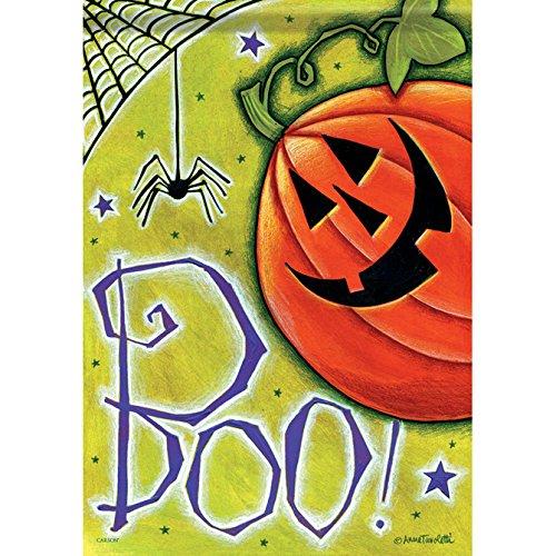 Boo Pumpkin Spider Halloween House Flag - 28
