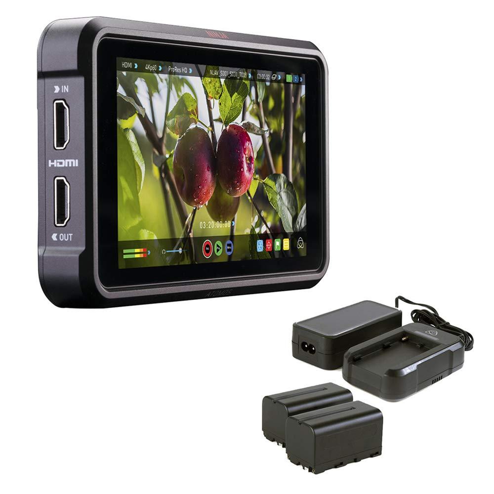 Atomos Ninja V 5'' 4K HDMI Recording Monitor with Atomos Power Kit for Shogun/Ninja Inferno & Flame by Atomos