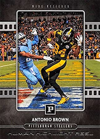 bbd6c9cc215 2018 Panini Football Human Highlight Reel  1 Antonio Brown Pittsburgh  Steelers NFL Trading Card