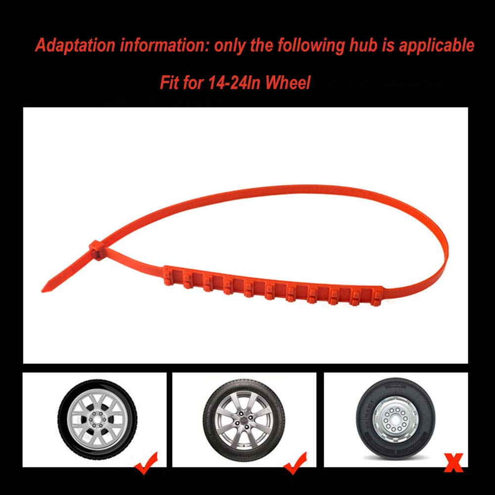 20 SUTON 20PCS//40 PCS Universal Car Truck Anti-Skid Tire Chains Reusable Emergency Snow Mud Wheel Tyre Tire Chains Belting Straps Ties Cable Nylon 20//40PCS