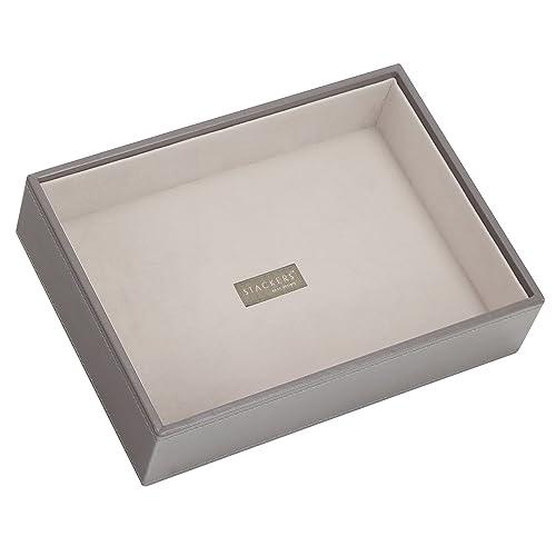 Stackers jewellery box | classic mink & grey velvet stacker lid