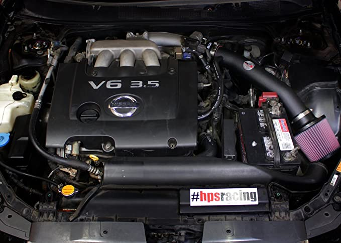 Amazon.com: HPS Black Shortram Air Intake Kit + Heat Shield for 04-08 Nissan Maxima V6 3.5L: Automotive