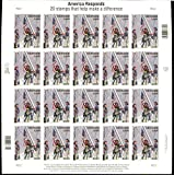 America Responds: 9/11 Heroes, Full Sheet of 20 Stamps, USA 2001, Scott B2