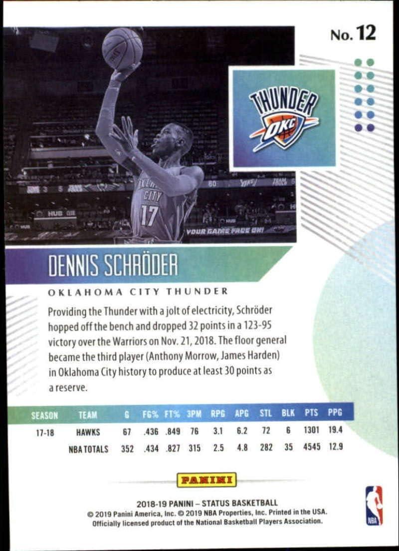 Dennis Schröder 2017-18 PANINI CONTENDERS Basket Cox #55