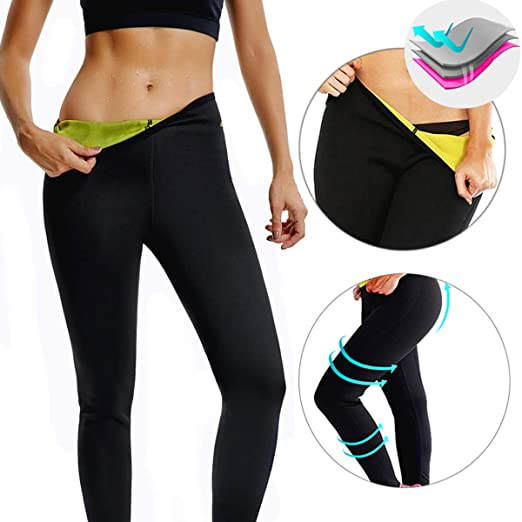 ecc6cec7898a2 CROSS1946 Women s Slimming Long Pants Leggings Yoga Hot Thermo Neoprene  Sweat Sauna Body Shapers for Weight