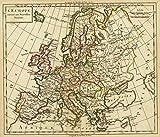 1800 School Atlas | L'Europe suivant ses nouvelles divisions. (A Paris, chez Delamarche, Geogr., ca. 1800) | Antique Vintage Map Reprint