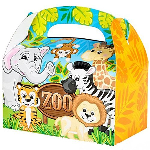 Zoo Animal Party Treat Boxes Pack Of 12 china