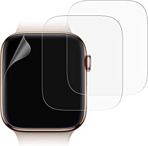 JETech Screen Protector Compatible Apple Watch 44mm Series 6/SE/5/4, TPU HD Clear Full Coverage Film, 3-Pack