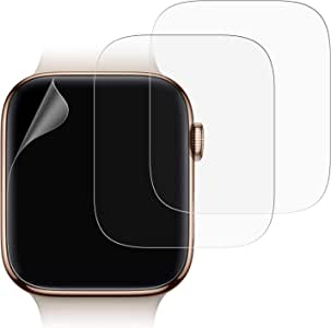 JETech Screen Protector for Apple Watch Series 44mm, High Definition, Ultra-Thin, 3-Pack