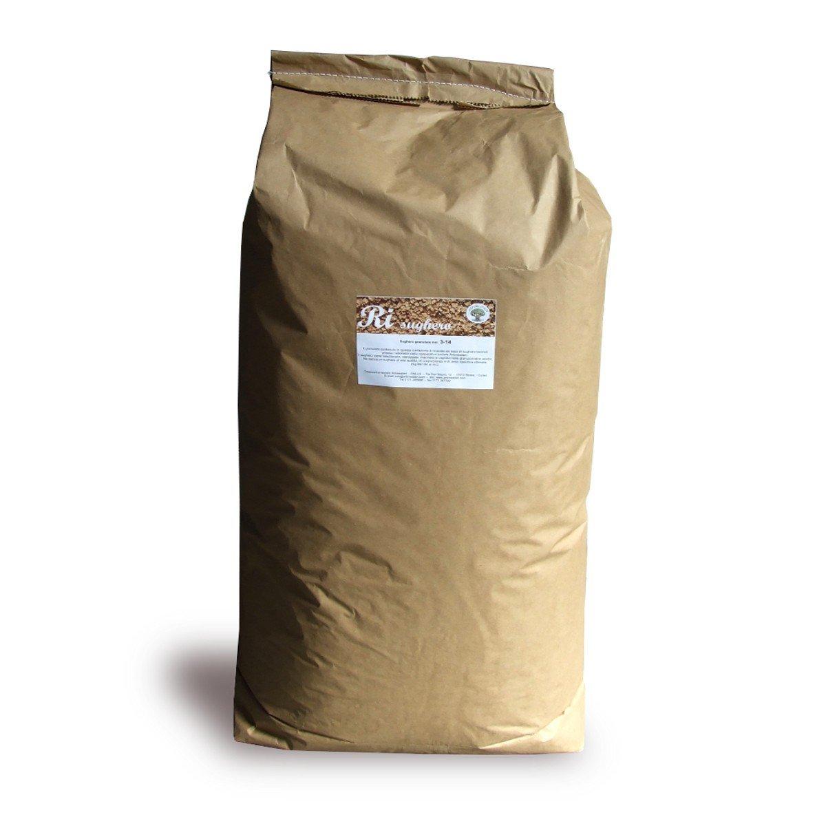ARTIMESTIERI - Sughero Granulato Biondo - sacco da 125 Lt - isolamento termico e acustico - bricolage - giardinaggio - 3-14mm