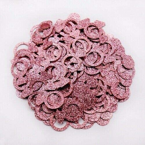 Metalic Sparkle Peach Heart Table Scatter Confetti Wedding Party Decor DIY
