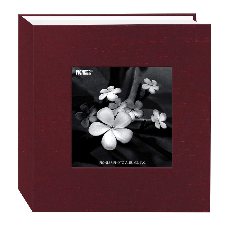 Pioneer Photo Albums 100 Pocket Cranberry Silk Fabric Frame Cover Photo Album for 4 by 6-Inch Prints DA-100SKF/CR